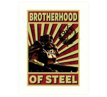 Brotherhood Of Steel Art Print