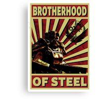 Brotherhood Of Steel Canvas Print