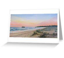 sunset Mystics Beach Greeting Card