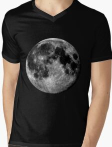 Full Moon Mens V-Neck T-Shirt