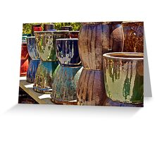 Reflecting On Pottery Greeting Card