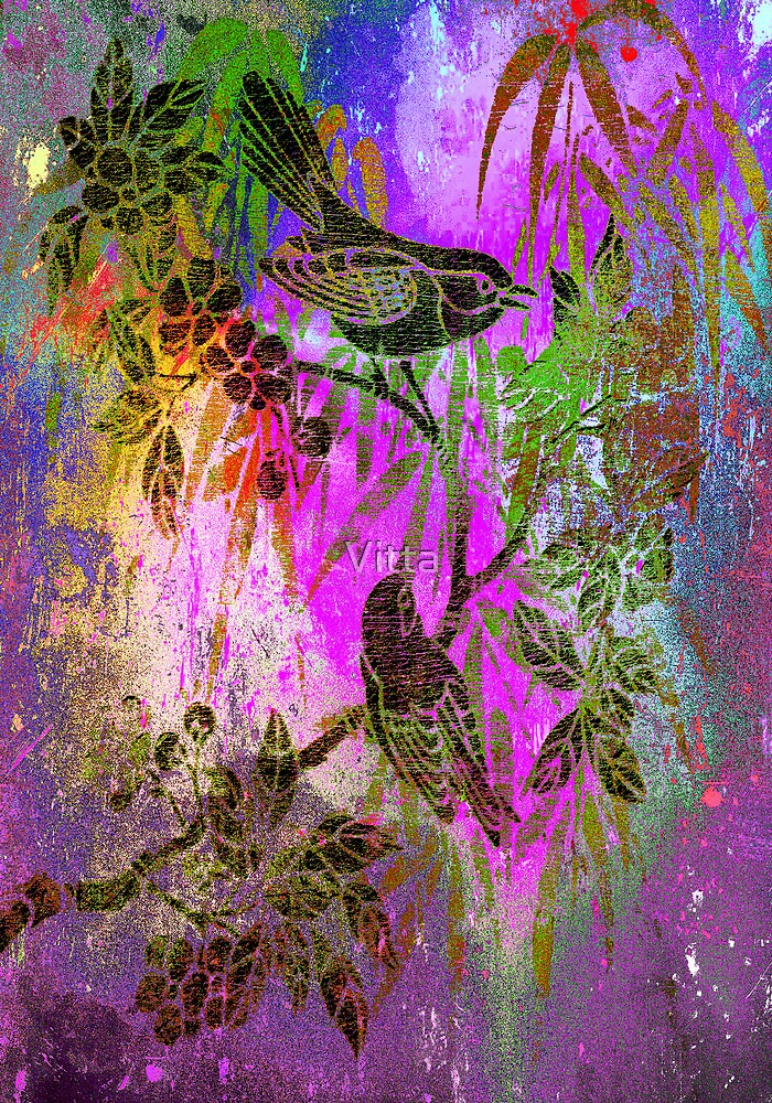 Painting Birds.Japanese series2. by Vitta