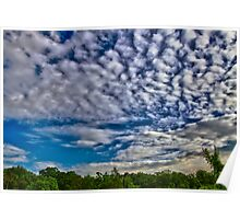 Alto Cumulus Clouds in May Poster