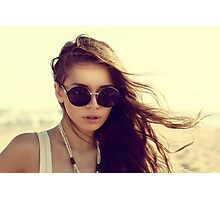 hipster girl swag cool glasses sun Photographic Print