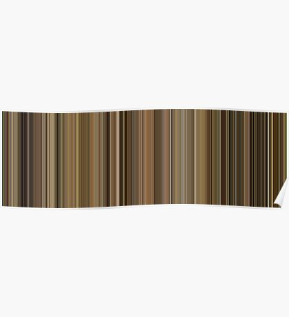 Moviebarcode: Leon: The Professional / Léon (1994) [Simplified Colors] Poster