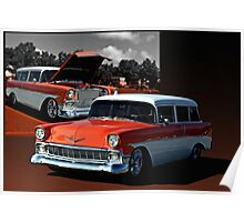 1956 Chevrolet 2 Door Station Wagon Poster