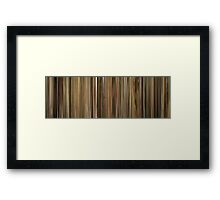 Moviebarcode: Leon: The Professional / Léon (1994) Framed Print