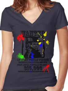 Fistful of paint Women's Fitted V-Neck T-Shirt