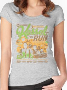 Kessel Fun-Run (12-Parsec Race to Cure Wookiee-Pox) Women's Fitted Scoop T-Shirt