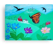 Celtic Circle - Flight of the Monarch Canvas Print