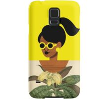 Ponytail Girl with Nature Shirt Samsung Galaxy Case/Skin