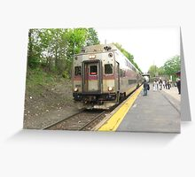 1715 MBTA Commuter Rail Inbound to Boston  Greeting Card
