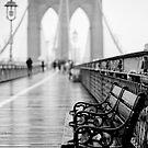 Brooklyn Bridge Bench by Randy  Le'Moine