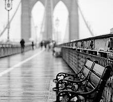 Brooklyn Bridge Bench by Randy  Le'Moine