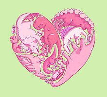 Loveasaurus by Amz Kelso