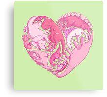 Loveasaurus Metal Print
