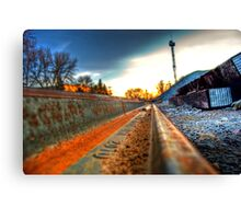 Train Track Canvas Print