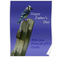 Father's Day Bluejay Poster