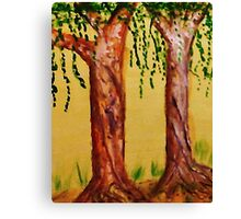 Old Trees with Character, watercolor Canvas Print