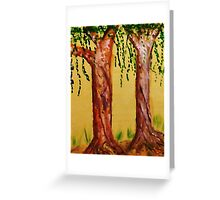 Old Trees with Character, watercolor Greeting Card