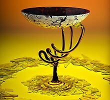 Wine Glass and Broken Glass by Austin Weaver