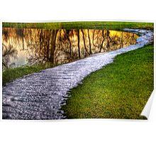 Sunset Pond Poster