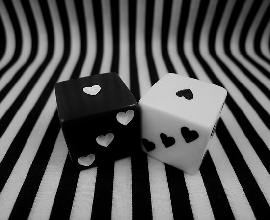 Black and White Dice by Barbara Morrison