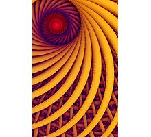 Abstract fantasy swirl tunnel with yellow and purple lines Photographic Print