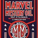 Marvel Mystery Oil vintage sign reproduction by htrdesigns