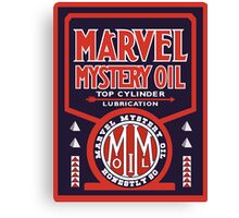 Marvel Mystery Oil vintage sign reproduction Canvas Print