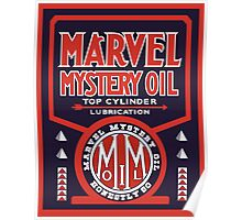 Marvel Mystery Oil vintage sign reproduction Poster