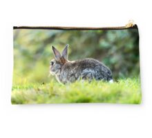 Cute Wild Rabbit Portrait Studio Pouch