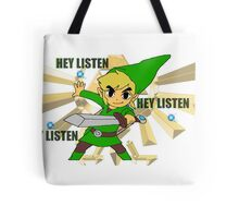 Link hey listen  Tote Bag