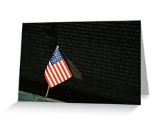 Reflections of the Vietnam Memorial Greeting Card