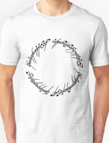 Lord of the Rings - The Ring (Black) T-Shirt