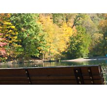 Park bench in the Fall Photographic Print
