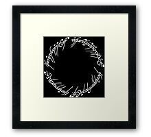 Lord of the Rings - The Ring (White) Framed Print