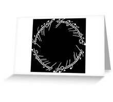 Lord of the Rings - The Ring (White) Greeting Card