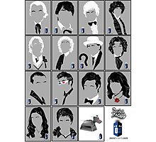 The Eleven Doctors and His Latest Companions Photographic Print