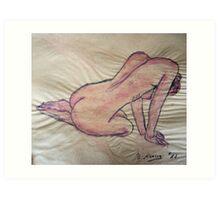 untitled akt Art Print