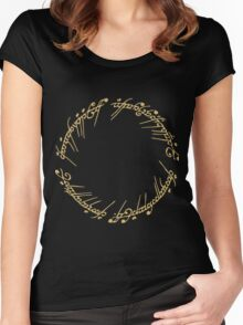 Lord of the Rings - The Ring (Gold) Women's Fitted Scoop T-Shirt