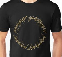 Lord of the Rings - The Ring (Gold) Unisex T-Shirt