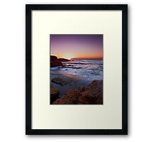 Light on the Rock Framed Print