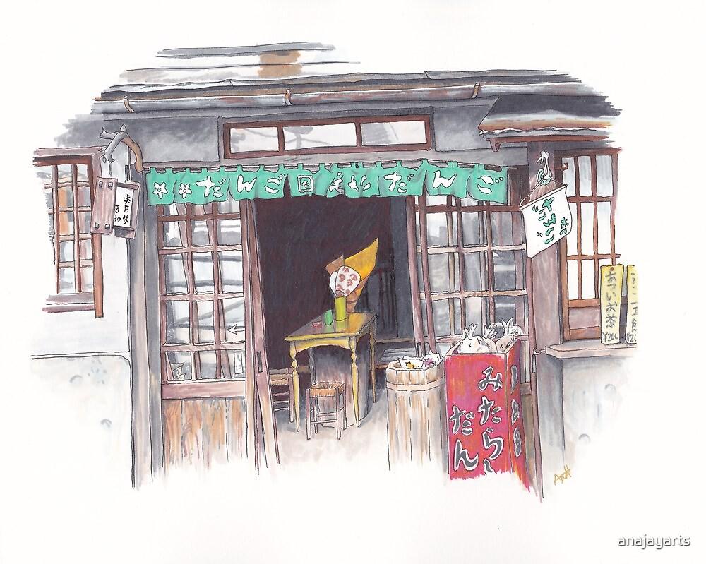 Dango Shop in Takayama by anajayarts