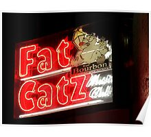 Fat Catz Saloon, French Quarter Poster