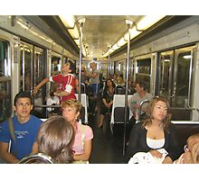 in the train... Photographic Print