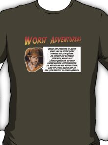 WORST ADVENTURERS - Indy Brody Bluff (deutsch) T-Shirt