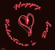 Happy Valentine's Day (Laser Pen) by James Zickmantel