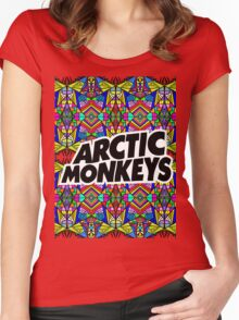 Arctic Monkeys - Trippy Pattern Women's Fitted Scoop T-Shirt