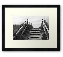 through the dune Framed Print